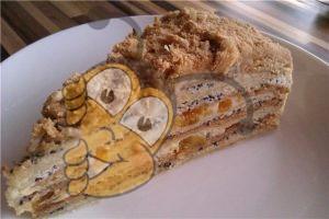 Торт наполеон с медом
