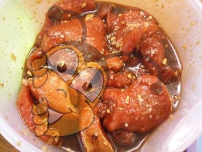 Маринованное мясо с медом