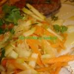 Постный салат из редьки с медом с грецкими орехами