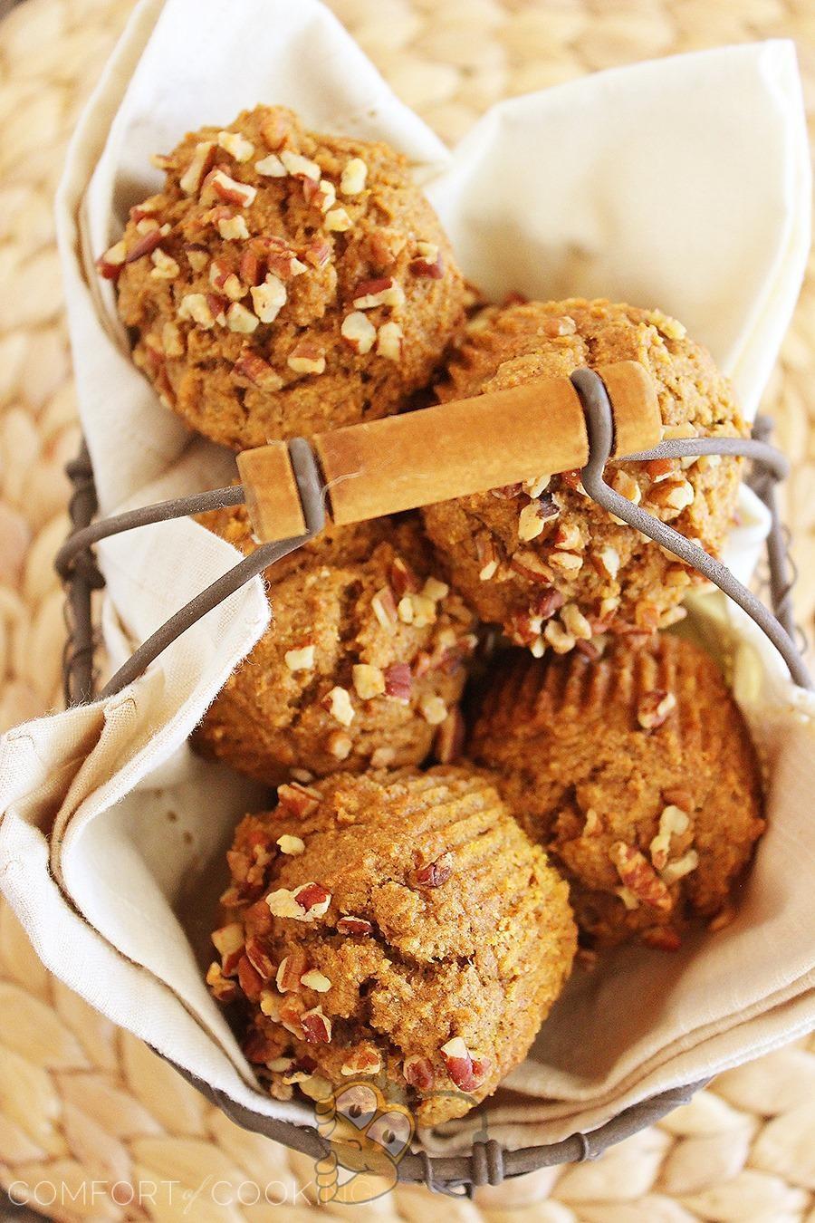 Кексы из пшеницы с тыквой и мёдом