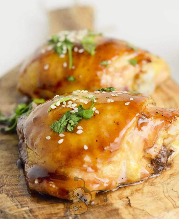 Глазурованная курица с мёдом