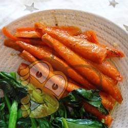 Жареная морковь с мёдом