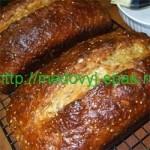 Хлеб с кунжутом и мёдом (для хлебопечки)