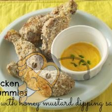 Куринные ножки с медово-горчичным соусом