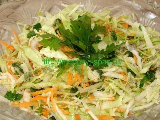 Салат из капусты и моркови с фото