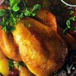 Цыпленок глазированный с абрикосом