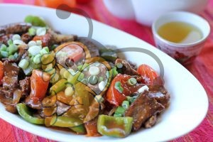 Китайская говядина с помидорами