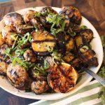 Жареный картофельный салат с медом